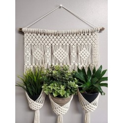 Macrame Plant Hanger with...