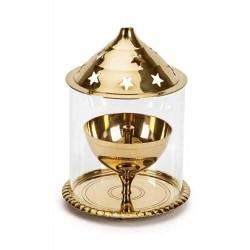 Handmade  Brass Gold Akhand...